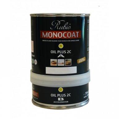 Rubio Monocoat Oil Plus 2c A B 350ml Smoked Oak A3 Drums