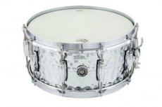 "Gretsch USA Brooklyn hammered chrome over brass 14""x6,5"" snare"