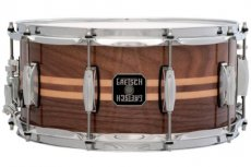 Gretsch walnut / maple inlay snaredrum